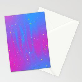 Pansexual Pride Starry Night Sky Stationery Cards