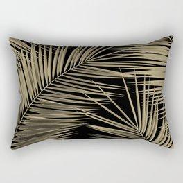 Palm Leaves - Gold Cali Vibes #7 #tropical #decor #art #society6 Rectangular Pillow