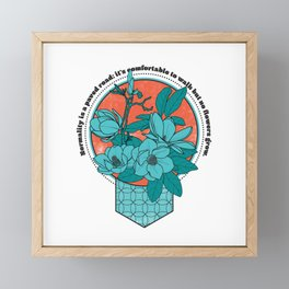 Normality Quote - Van Gogh quote Framed Mini Art Print