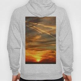 Fiery Sunset Over Naples Beach Hoody