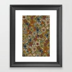 nectar bird garden gold Framed Art Print