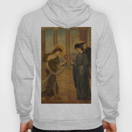"""Edward Burne-Jones """"Cupid and Psyche - Palace Green Murals - Psyche entering the Portals of Olympus"""" Hoody"""
