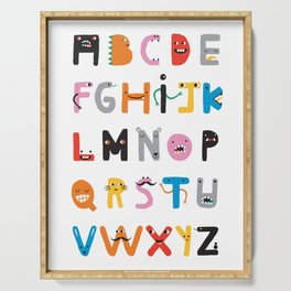 ABC The Monster Alphabet Serving Tray