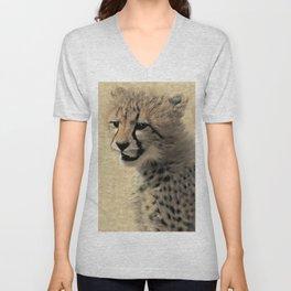 Cheetah cub Unisex V-Neck