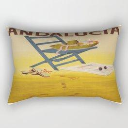 Vintage poster - Andalucia, Spain Rectangular Pillow