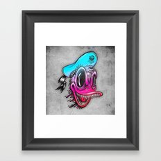 Demon Duck Framed Art Print