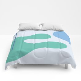 I don't know - on blue background Comforters