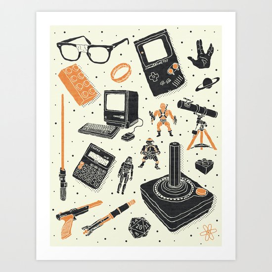 Nerd Life Art Print
