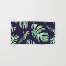 Monstera Pattern Blue #society6 Hand & Bath Towel