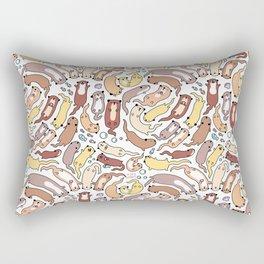 Adorable Otter Swirl Rectangular Pillow