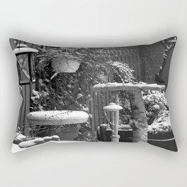 Winterscene in a garden. Rectangular Pillow