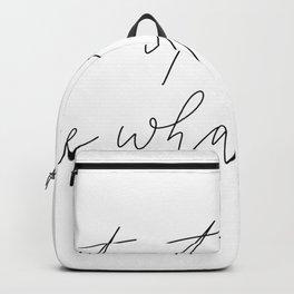 Let it go Backpack