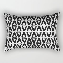 Black and White Abstract II Rectangular Pillow