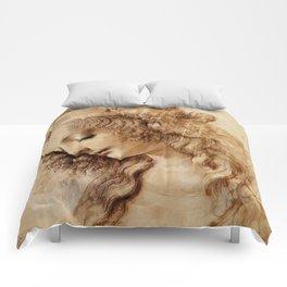 """Leonardo da Vinci """"Woman's head"""" 3. Comforters"""
