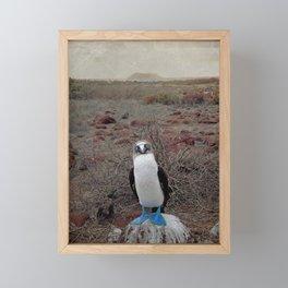 blue is cool Framed Mini Art Print