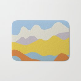 Over The Sunset Mountains Bath Mat