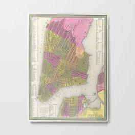 Vintage Map of New York City (1848) Metal Print