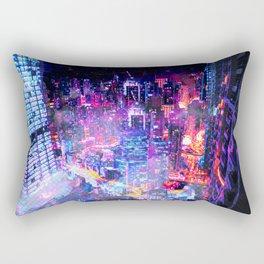 Cyberpunk City Rectangular Pillow