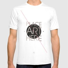 The Art Placeholder MEDIUM White Mens Fitted Tee