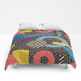 Memphis Inspired Pattern 4 Comforters