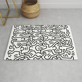 Homage to Keith Haring Acrobats Rug