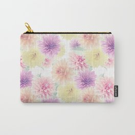 Seamless floral pattern with dahlia flowers. Endless texture Carry-All Pouch