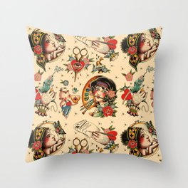 Makers Gonna Make Pattern Tea Stain Throw Pillow