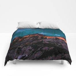 The Volcano Mountain (Color) Comforters
