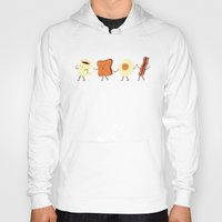 iphone 5 case Hoodies featuring Let's All Go And Have Breakfast by Teo Zirinis