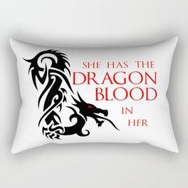 She Has The Dragon Blood Rectangular Pillow