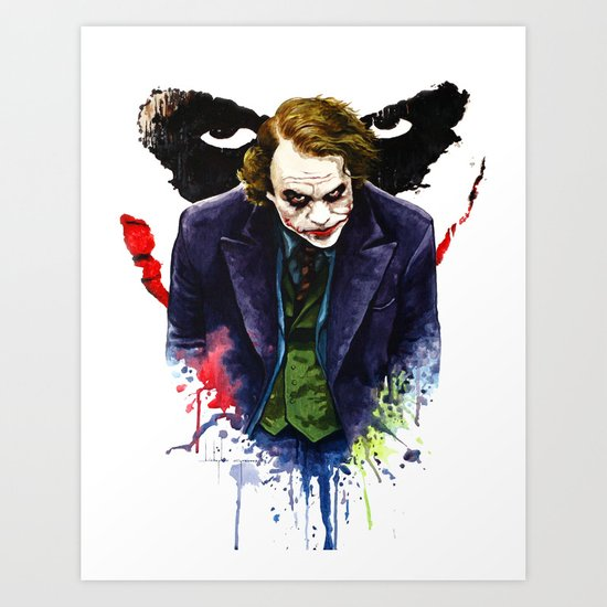Angel Of Chaos (The Joker) Art Print