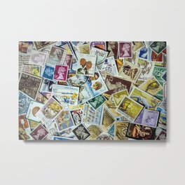 Postage Stamp Collection Metal Print