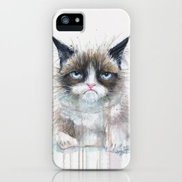 Angry Cat iPhone Case