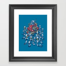 Blue Horde Framed Art Print
