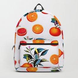 Orange blossom - Grapefruit blossom Grove Art Print Fruit Decor No. 1 Backpack