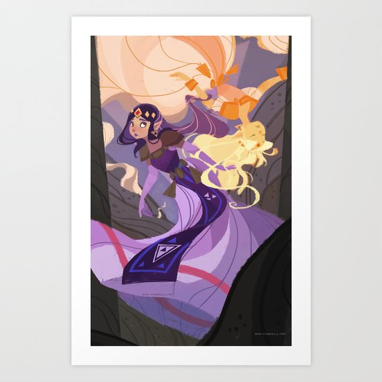 Wisdom's Mirror Art Print