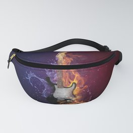 Cool Music Guitar Fire Water Artistic Fanny Pack