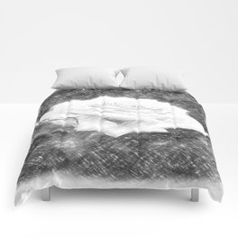 Pink Roses in Anzures 3 Charcoal Comforters