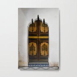 Door at La Bahia (Marrakech) Metal Print