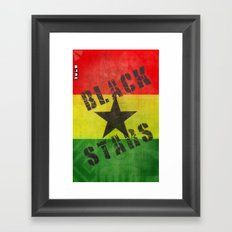 Ghana Black Stars Framed Art Print