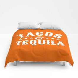 Tacos & Tequila (Orange) Comforters