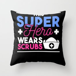 Nurse Doctor Superhero Proud Tshirt Throw Pillow