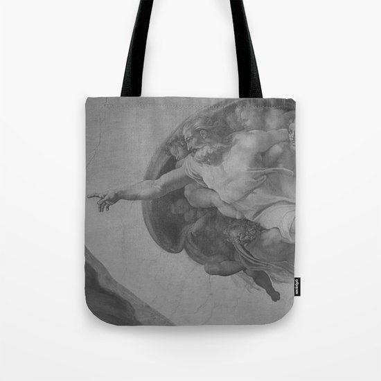 Black White Sistine Tote Bag