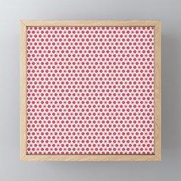 Red Delicate Flowers Framed Mini Art Print