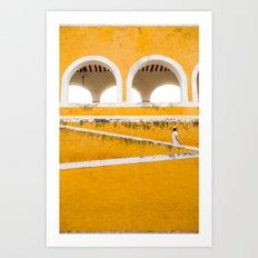 Colonial Mexico, Izamal in Yellow #buyart #society6 #decor Art Print