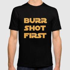 Burr Shot First Mens Fitted Tee Black MEDIUM