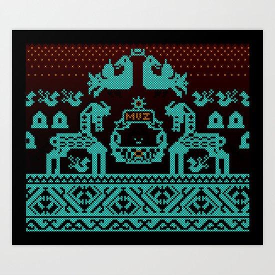 Embroidery  Art Print