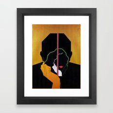The Thoughtful Couple Framed Art Print