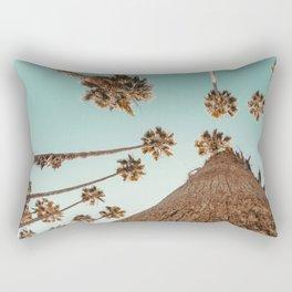 {1 of 2} Hug a Palm Tree // Tropical Summer Teal Blue Sky Rectangular Pillow