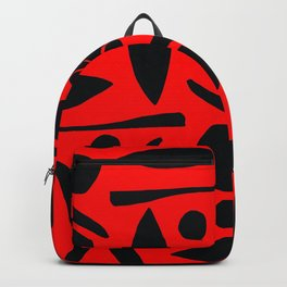 Heirloom Tomato Red Mid-Century Modern Abstract Pattern Backpack